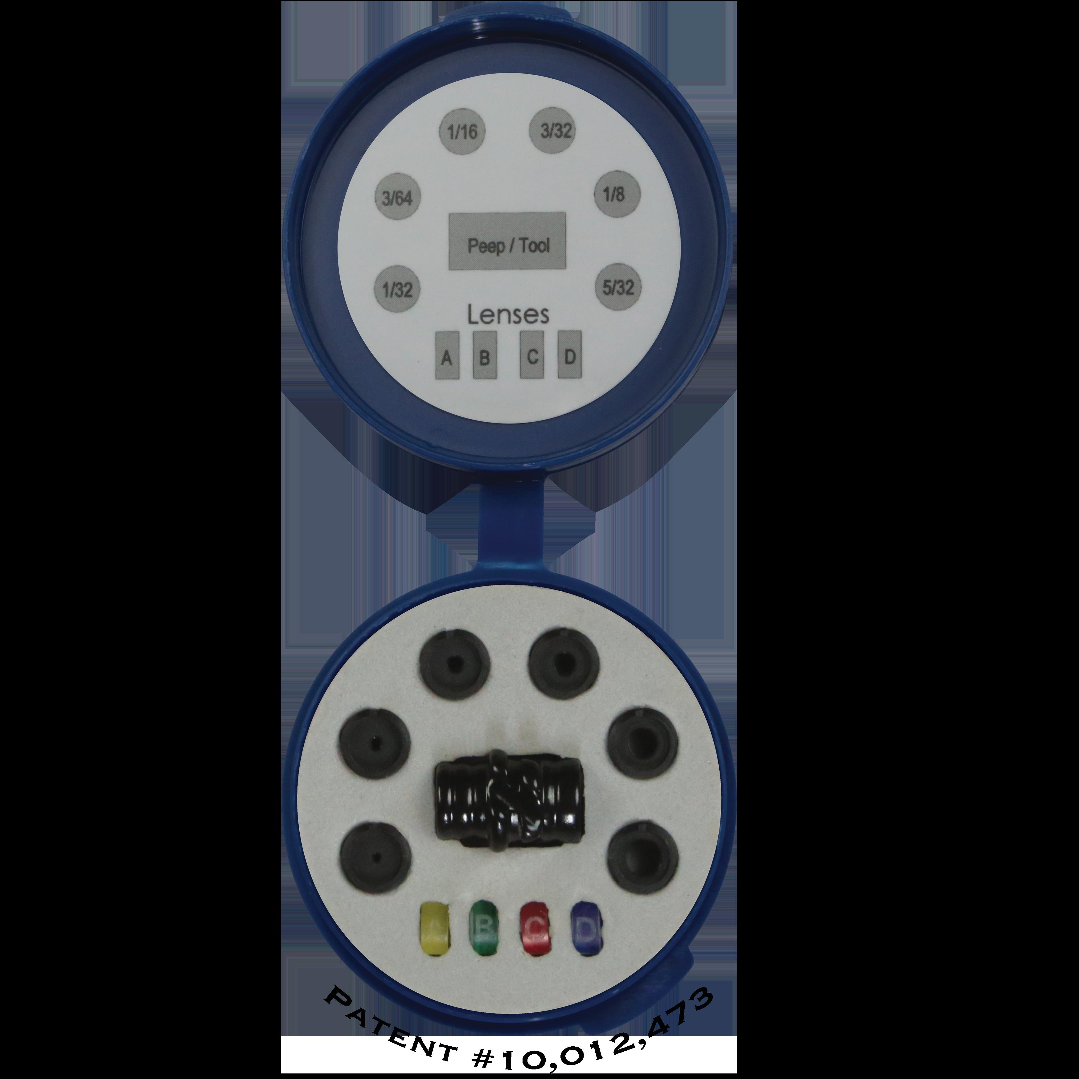 Hamskea Insight Super Deluxe Peep Kit Includes Housing, 6 Apertures//Tool, 4 Len